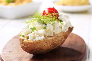 Jacket Potato with Cottage Cheese