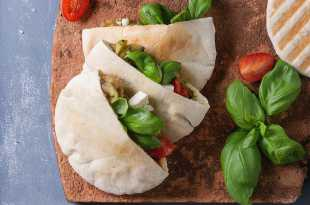 Pitta filled with salad