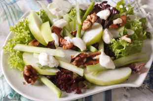 Salad with Apples, Walnuts and Celery